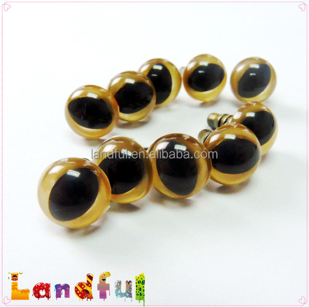 12mm Gold Color Cat Eyes Safety Animal Eyes Craft Doll Eyes DIY