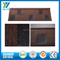Sand coated shingles galvalume metal metallic stone coated roof tile