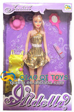 11.5 inch real body fashion girl doll with make up set