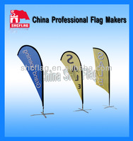 Custom cheap Waterproof advertising feather beach flag