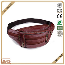 2016 Good Quality Popular Bicycle Fashion men Leather Waist Bags sport cell phone packing waist bag