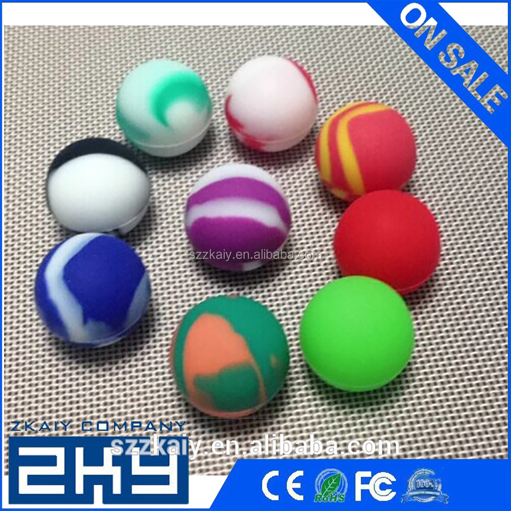2016 Newest Silicone Container Non-stick Ball Silicone Jars For Wax Bho Oil Vaporizer Silicon Jars Dab Wax Container e cigarette