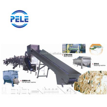 PP PE film bags PET bottles waste plastic cleaning machine