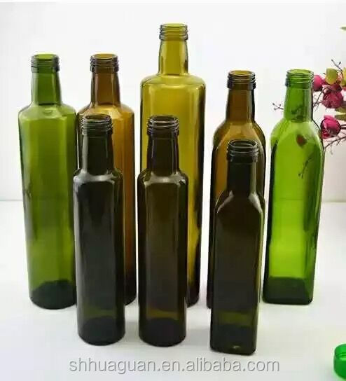Green Olive Oil glass bottle wholesale Factory direct sale Made to Order as Buyers Samples