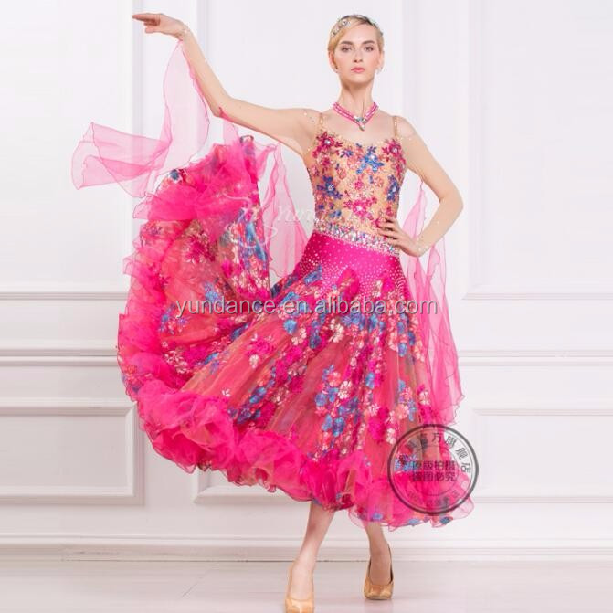 high quality fancy ballroom dance dress made in China B-16192