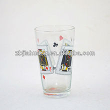 16oz Pint Glass Drinking Cup With Poker Logo