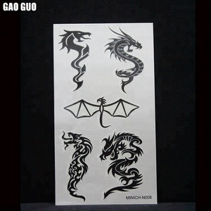 High Quality Non-toxic Custom Skin Safe Glow In The Dark Temporary Tattoo Sticker