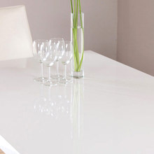 New Design Rectangle / long narrow mdf top semi-circle hotel table