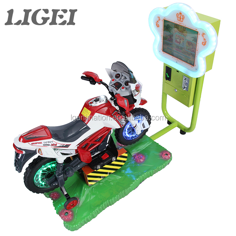 High quality kiddy ride coin operated arcade simulator 3d video motor game machine for children