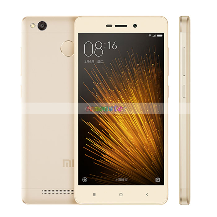 "Xiaomi Redmi 3X 5"" Fingerprint 2GB RAM 32GB ROM Mobile Phone 430 Octa-core 4G Smartphone Golden"