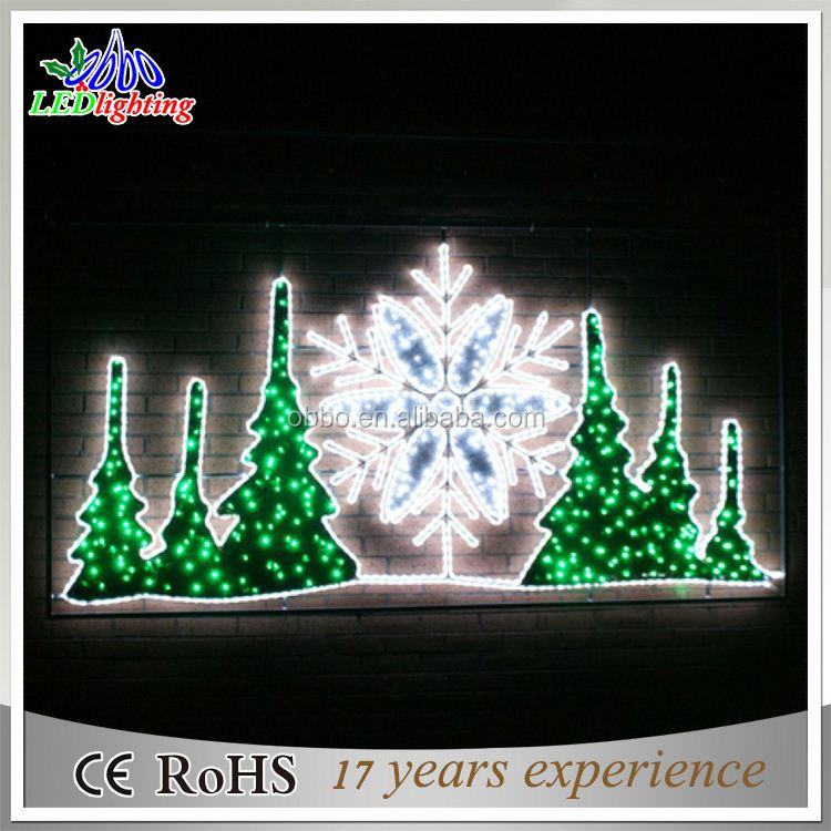 chrismas led motif lights 2d motif christmas tree top star light