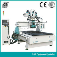 ATC 8 tool change 9kw hsd vacuum table furniture cutting router machine cnc carving machine for wood