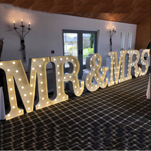 wedding event Mr and Mrs large 3D Marquee bulb letters