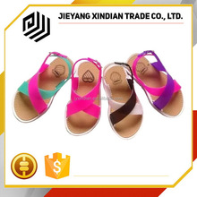 lovely rainbow color kids sandals shoes