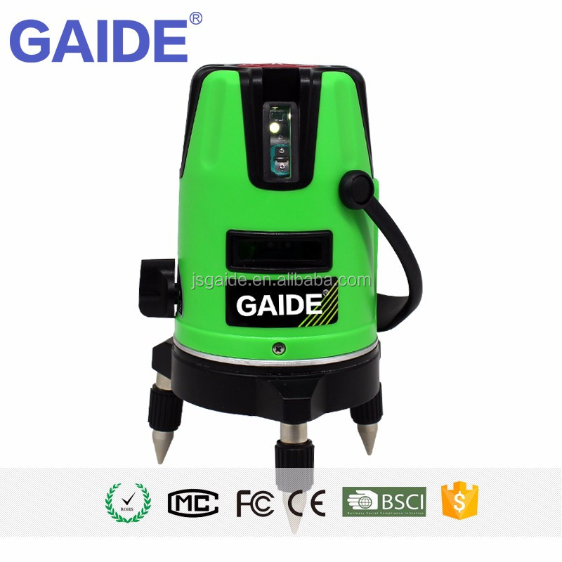3 green beams multi-functional self-leveling line rotary laser levels
