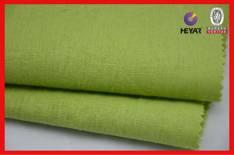 Linen cotton fabric dyed cotton linenfabric