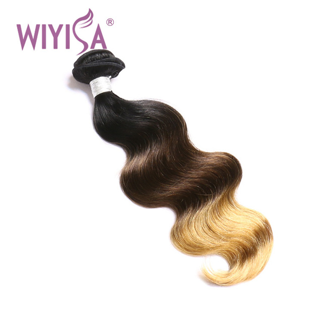 Hot Selling Grade 10a Peruvian Hair Body Wave Three Tone Color 1b 4 27 Ombre Human Hair Extensions