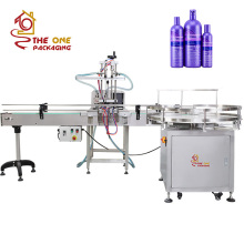 High Precision Easy Operate Automatic Shampoo Liquid Soap Detergent Essential Coconut Olive Oil Bottle Filling Machine