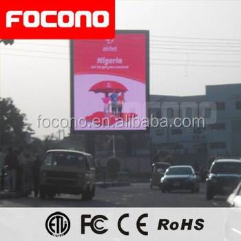Outdoor Usage 20mm Animation Video Function Gorgeous Image Giant Electronics LED Display