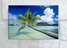 Beautiful modern seascape painting picture watercolor wall art for outdoor gardern swimming pool decor waterproof canvas art