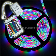 Yidun Lighting 5M/10M SMD-5050/3528 RGB LED Strip Light + Power Adapter+ IR Remote Waterproof
