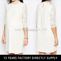 White lace half sleeve formal party dresses for pregnant women