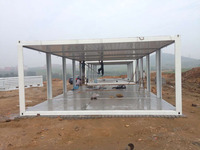 Light steel structure and sandwich panel 20ft container house