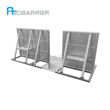 High quality parking lot folding barrier/barrera vehicular/folding safety barriers