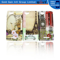 Handmade Water Transfer Priting Diamond Phone Case For Sony C1905 Cover Case With Diamond