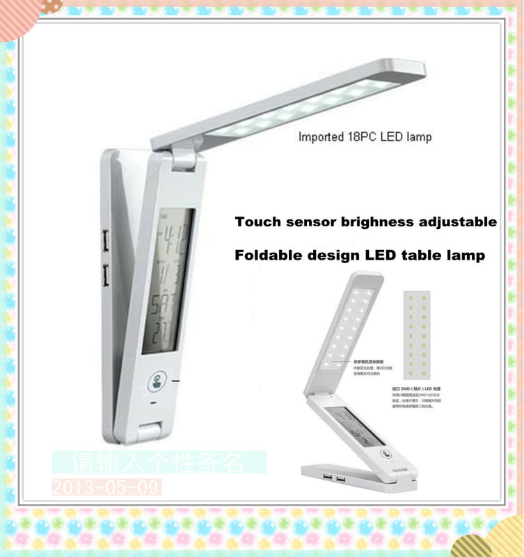 Supply Touch sensor LED foldable table lamp