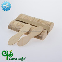 China factory supply disposable wooden straight edge popsicle sticks