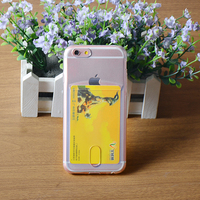 Slim TPU back cover for iphone6/6s with card slot case