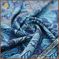 Rayon digital print luxury crepe fabric in custom design for garments