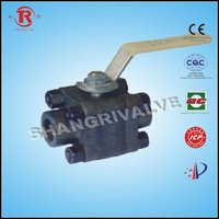 3 pcs forged steel ball valve