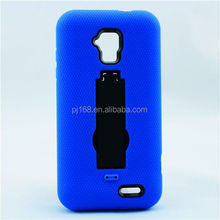 PC + Silicone combo robot hybird kickstand case for Samsung galaxy Alpha G850
