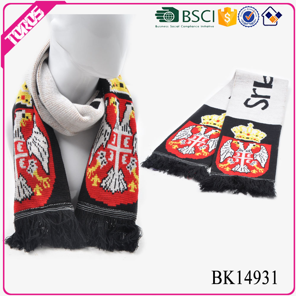 Toros free crochet pattern print knitted football scarf