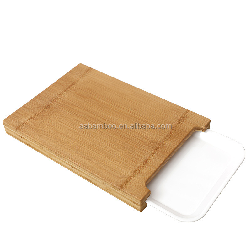 Wholesale Bamboo Cutting Board With Tray , Kitchen Chopping Board With Drawer