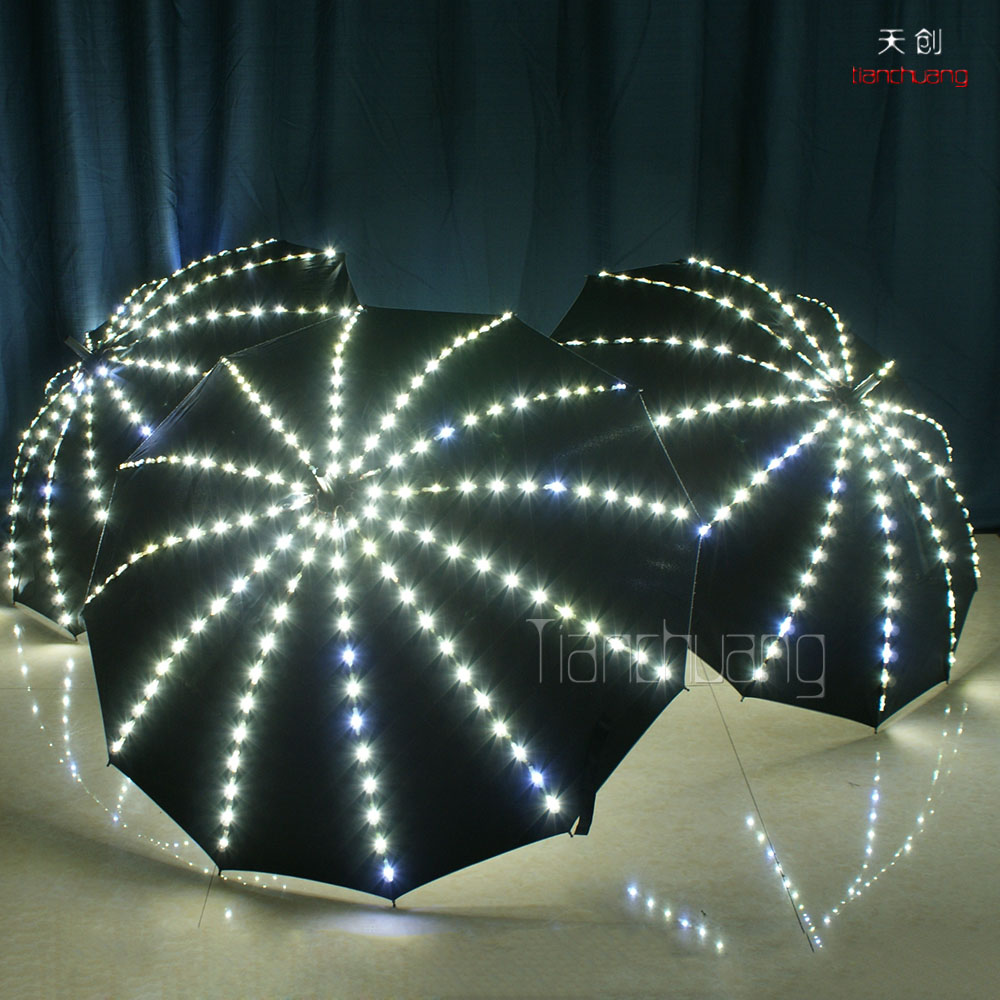 Luminous led umbrella outdoor indoor stage performance glowing dance props