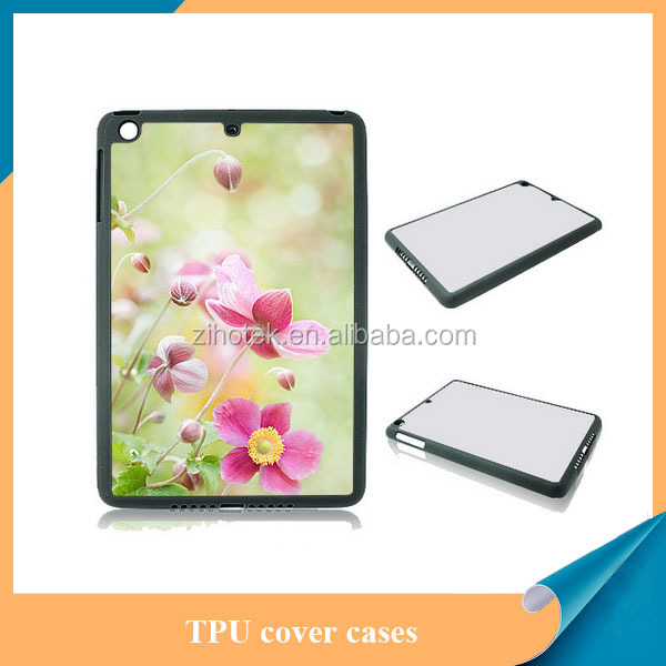 Sublimation silicon mobile phone case for iPad mini,TPU sublimation case for iPad mini