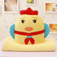 Wearing red scarf student plush chicken toys