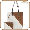 new trendy design handmade oversized suede leather beach tote bag messenger bag with envelope clutch