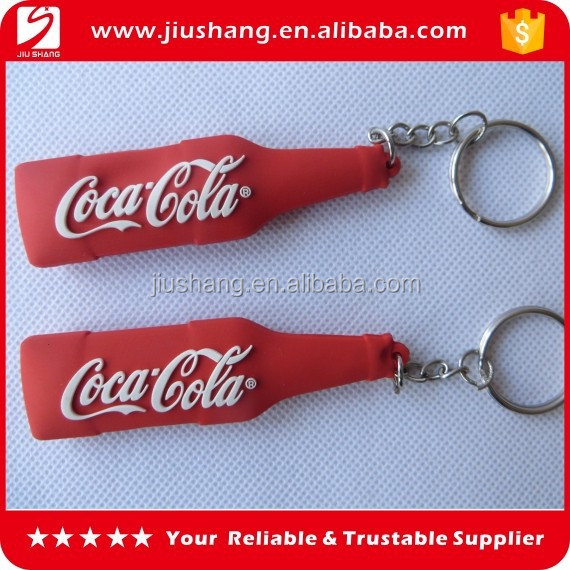 Simple bottle shape 3D models soft pvc key ring