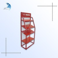 decorative advertisement heat transfer printing wine bottle metal stand