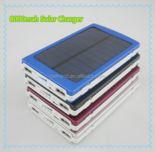 New arrival!!! 8000mah Solar sun charger mobile for iphone 5s 4s for samsung galaxy tab