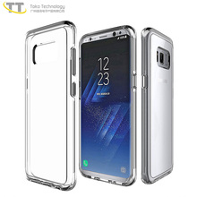 Fancy transparent mobile cover phone case for Samsung s8