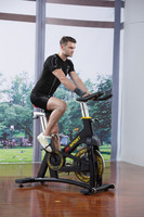 High-end spin bike with adjustable saddle and handrails 2013