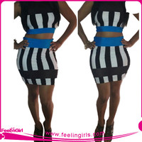 New Arrival Hot Pink Sexy Bandage Dress Sexy Girls Party Dress
