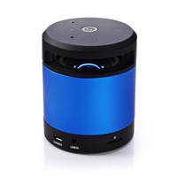 2015 bluetooth wireless mini portable speaker with led light and tablet stand new promotional gift