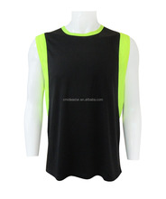 Bird eye Sleeveless gym T-Shirt custom mens t shirts for sports and fitness wear dry fit