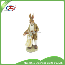 animal garden rabbit statues ornament figure resin